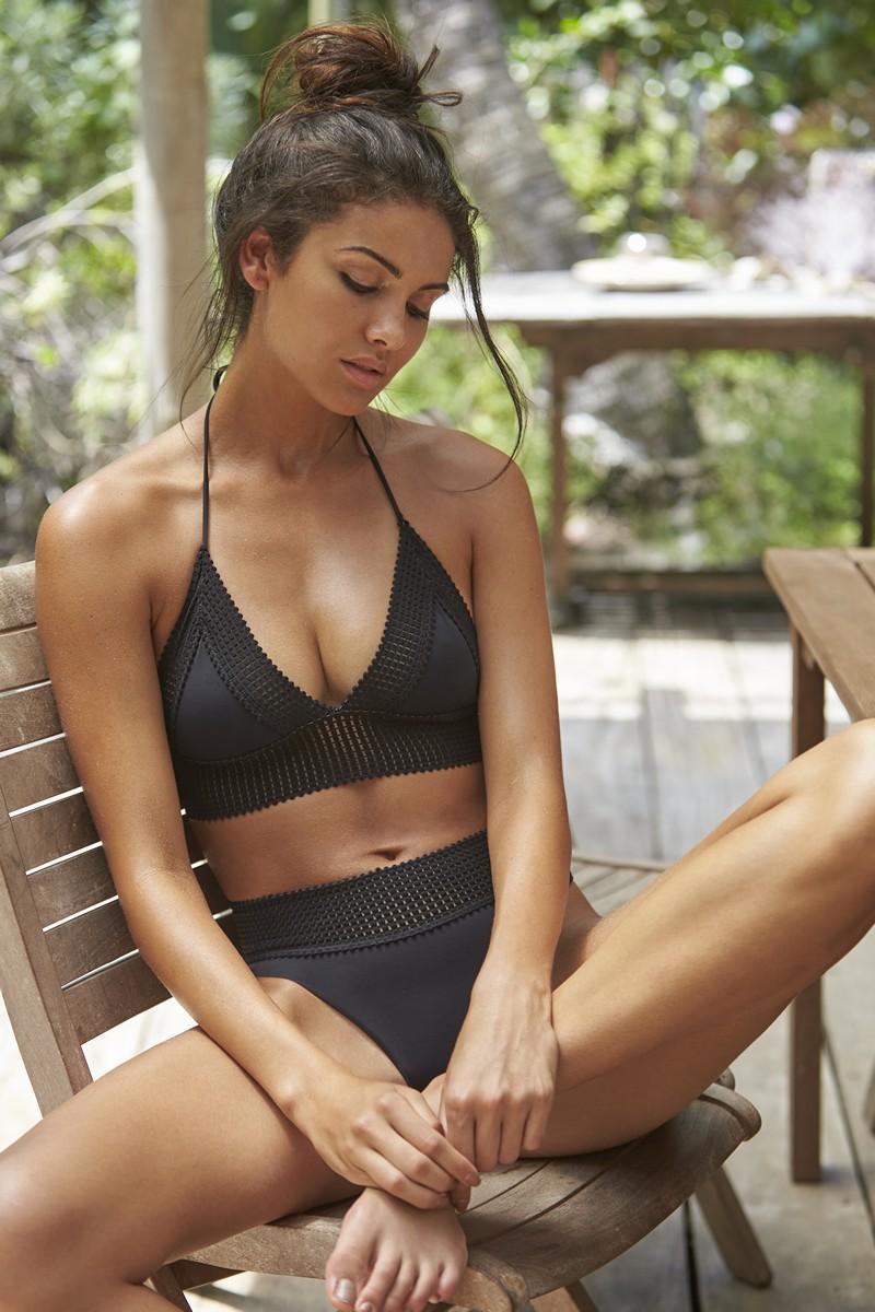 Peixoto Black Carine Bikini Bottom