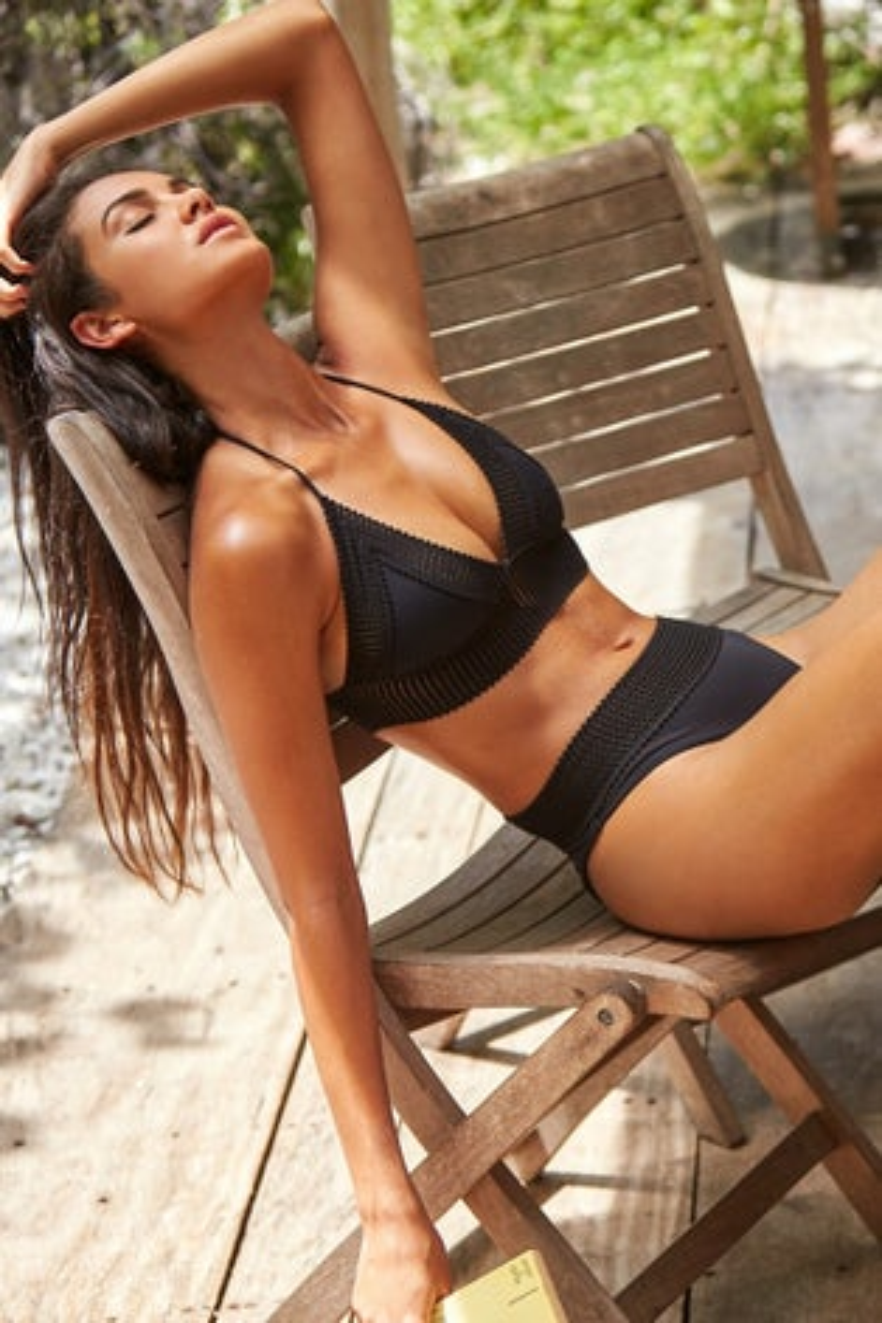Peixoto Black Naomi Bikini Top