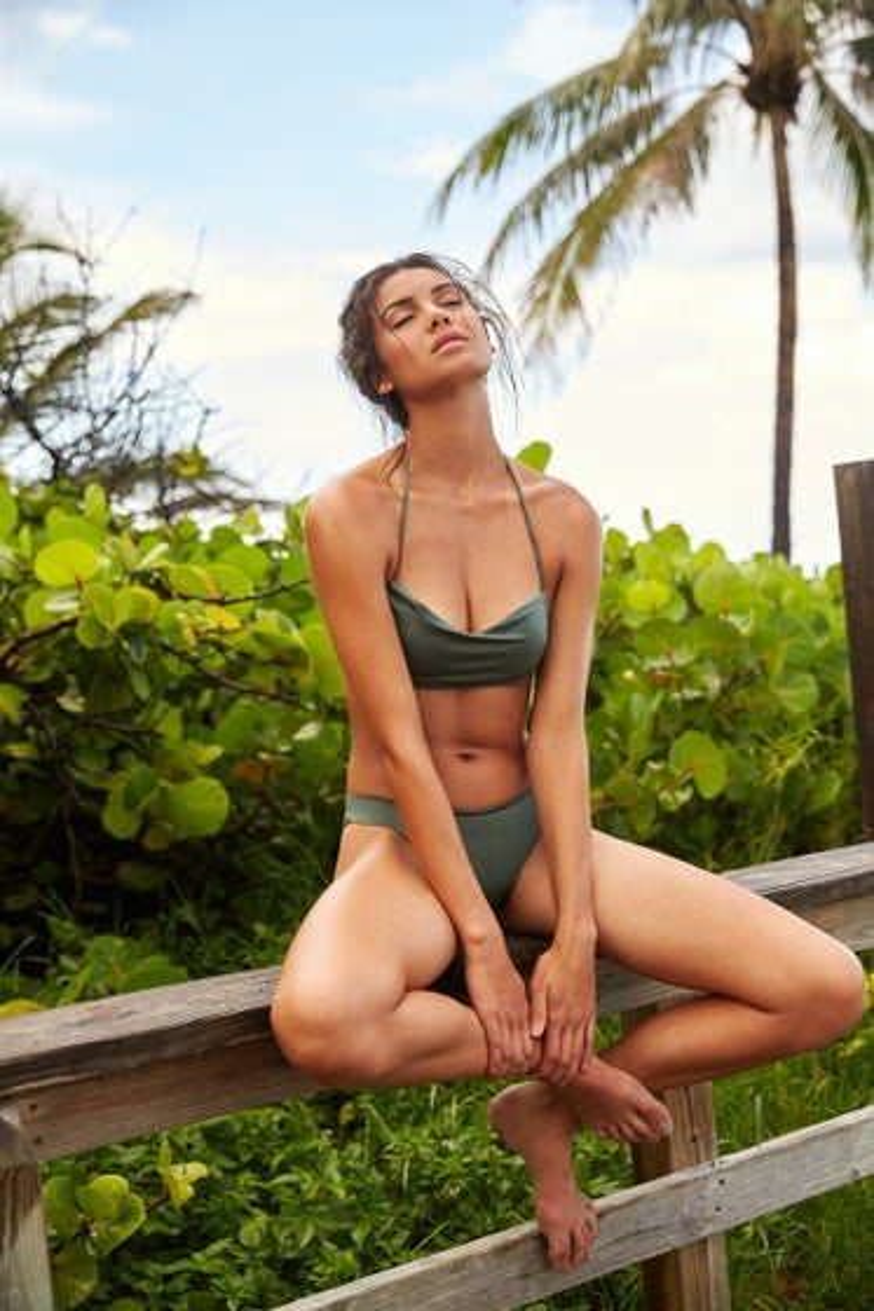 Peixoto Emerald City Tyra Bikini Top