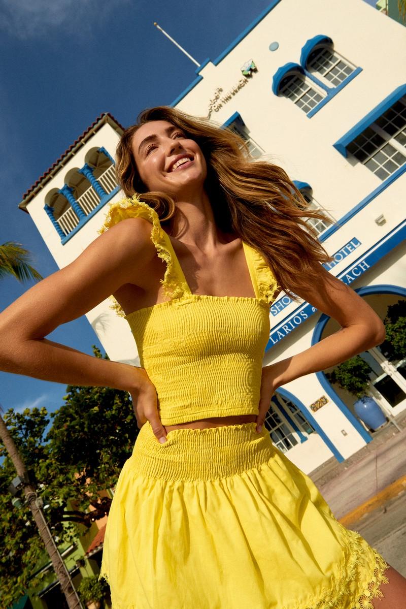 Peixoto Lemon Zest Belle Skirt