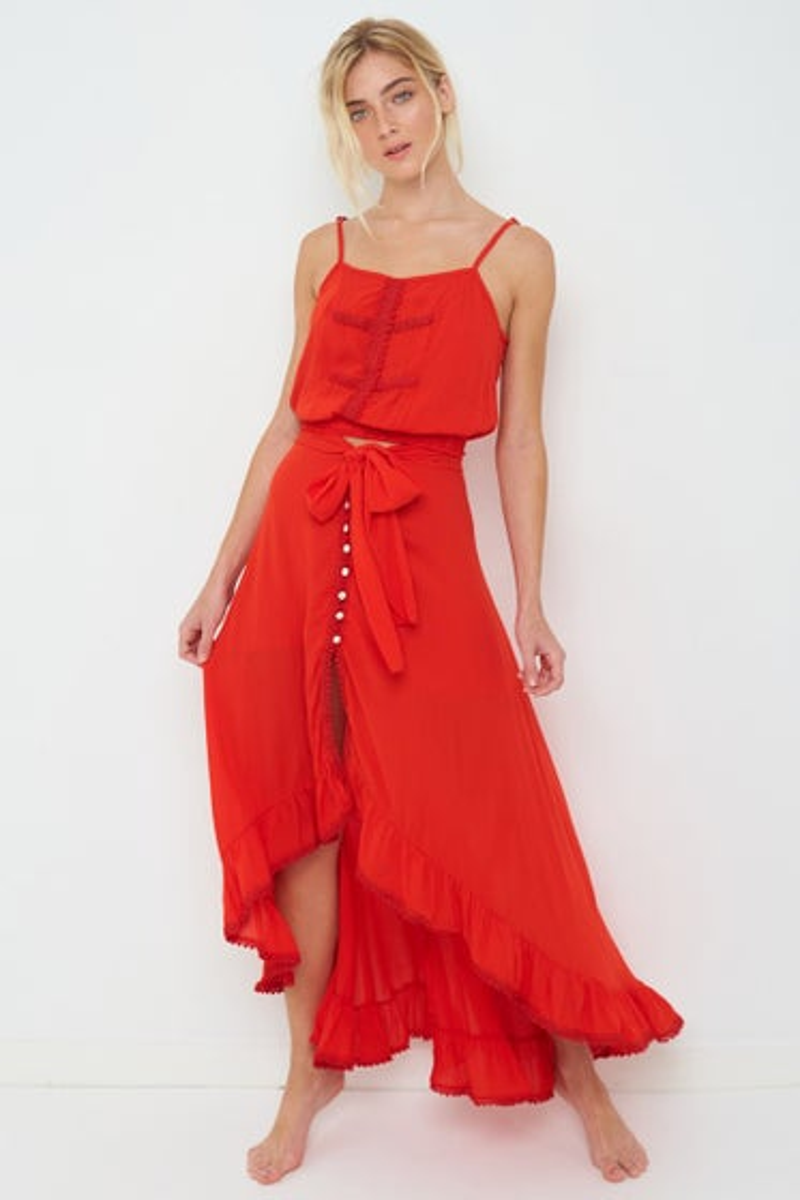 Peixoto Red Sangria Luna Skirt