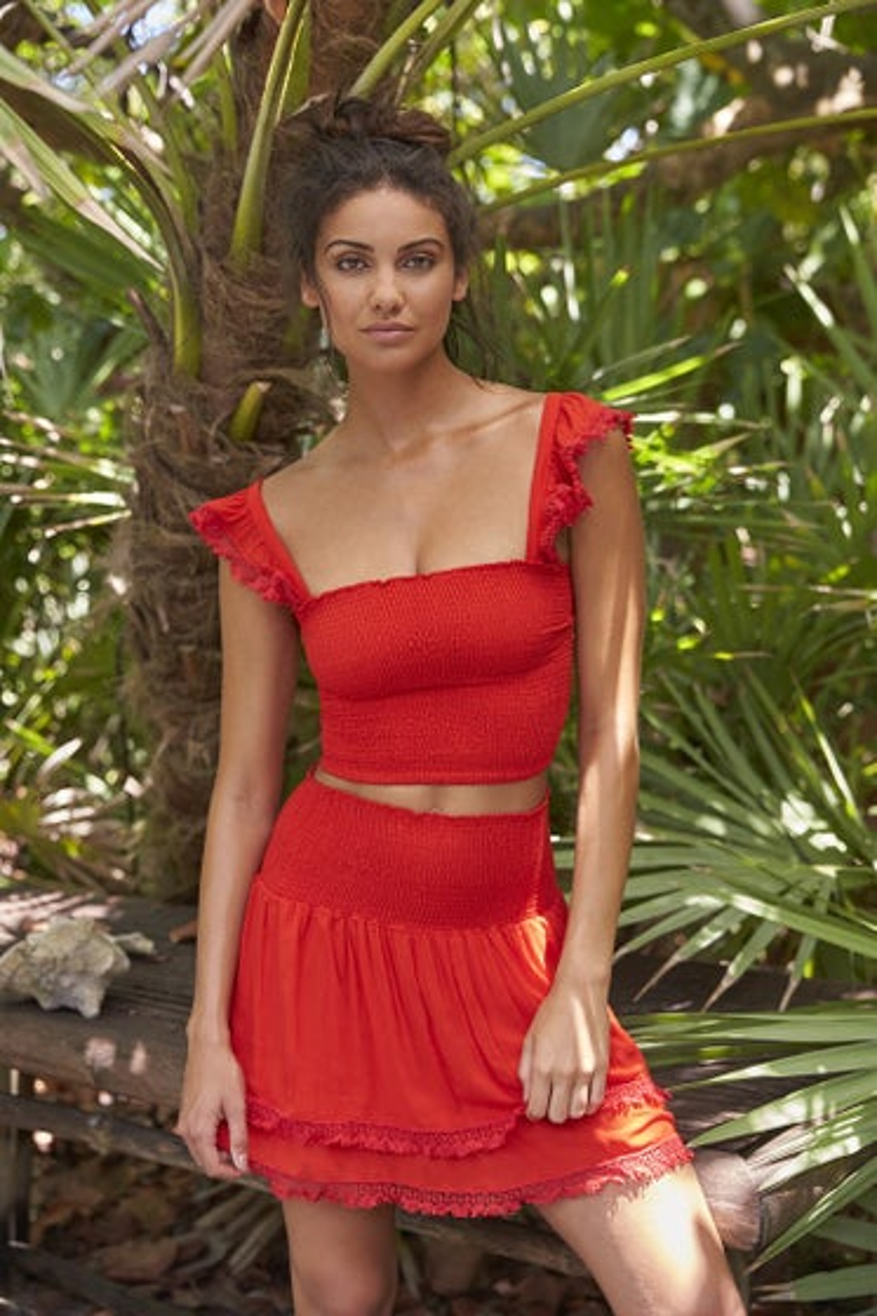 Peixoto Red Sangria Belle Skirt