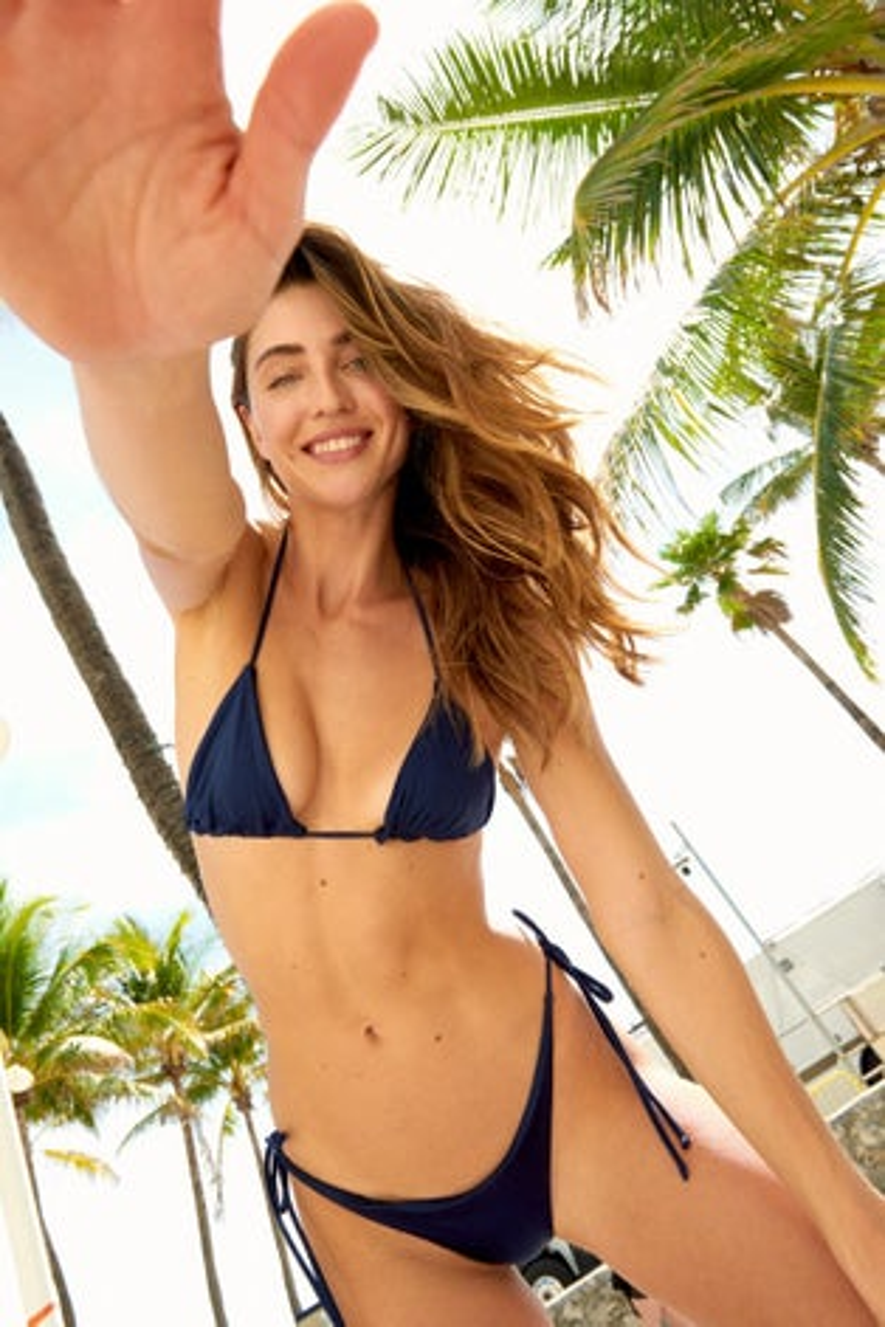 Peixoto Saphire Blue Fifi Triangle Bikini Top
