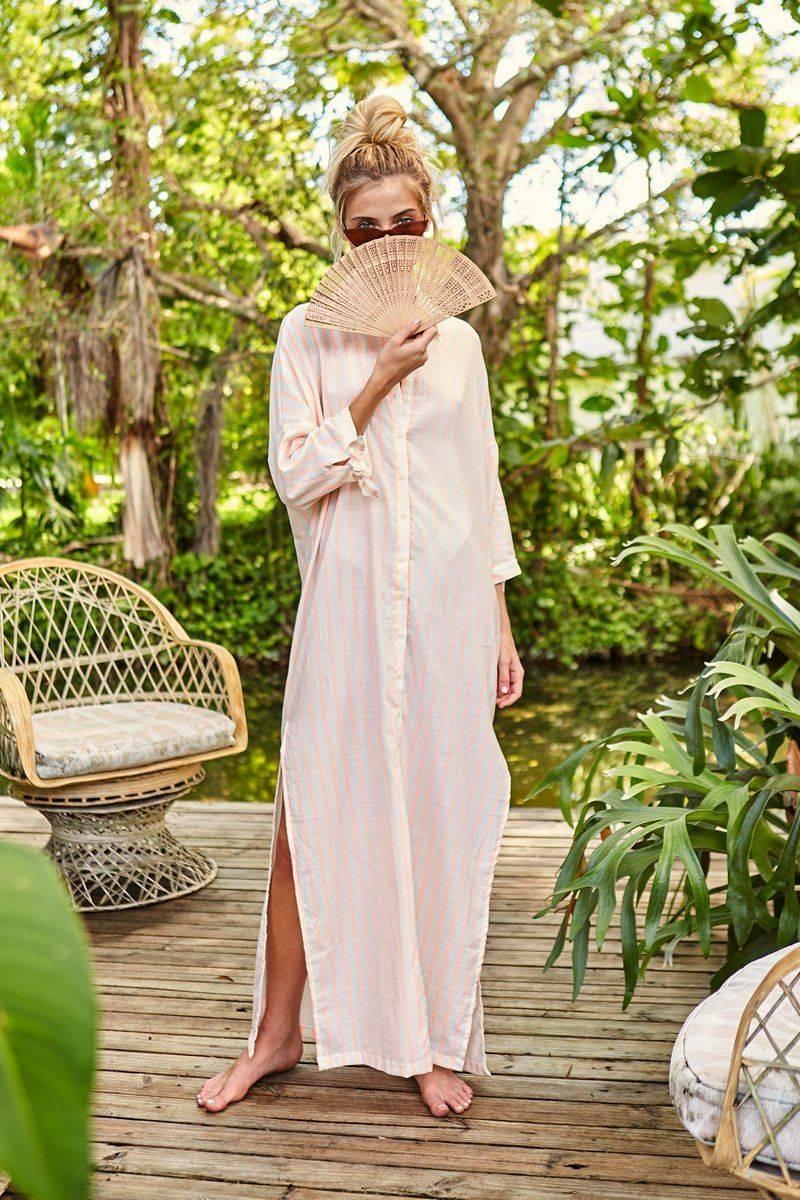 Peixoto Tropico Stripe Josephine Cover Up