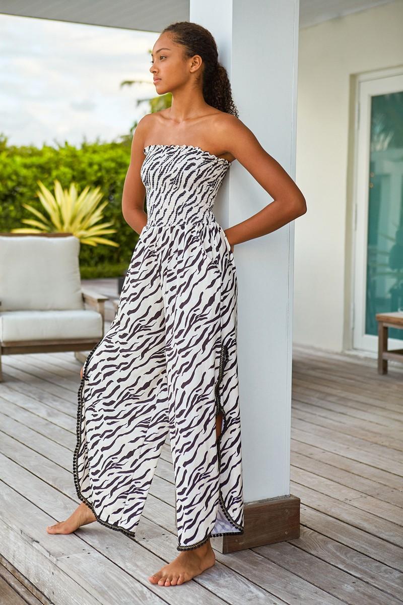 Peixoto Wild Zebra Harriet Jumpsuit