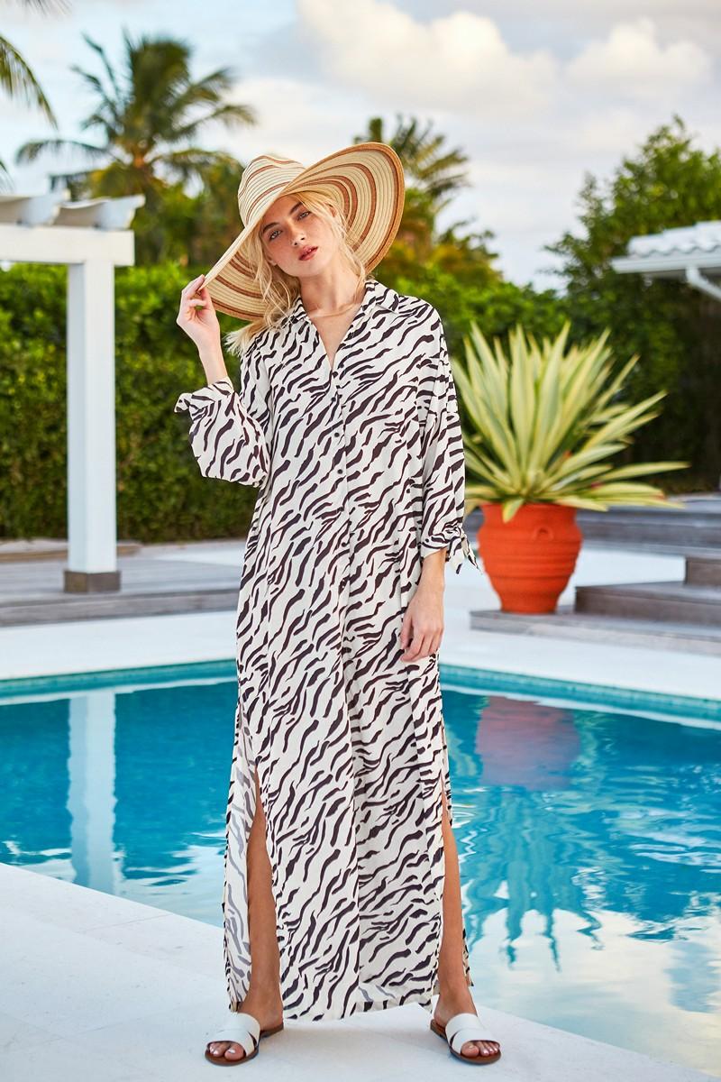 Peixoto Wild Zebra Josephine Cover Up