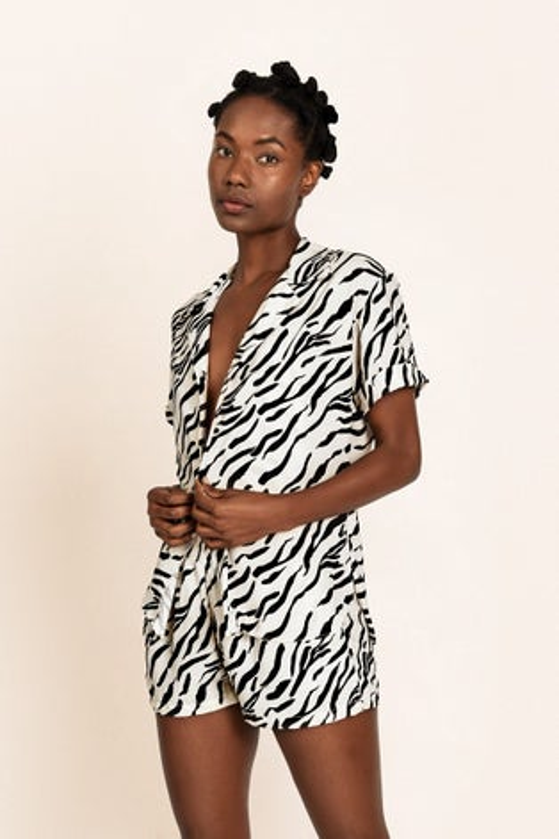 Peixoto Wild Zebra Nora Shirt
