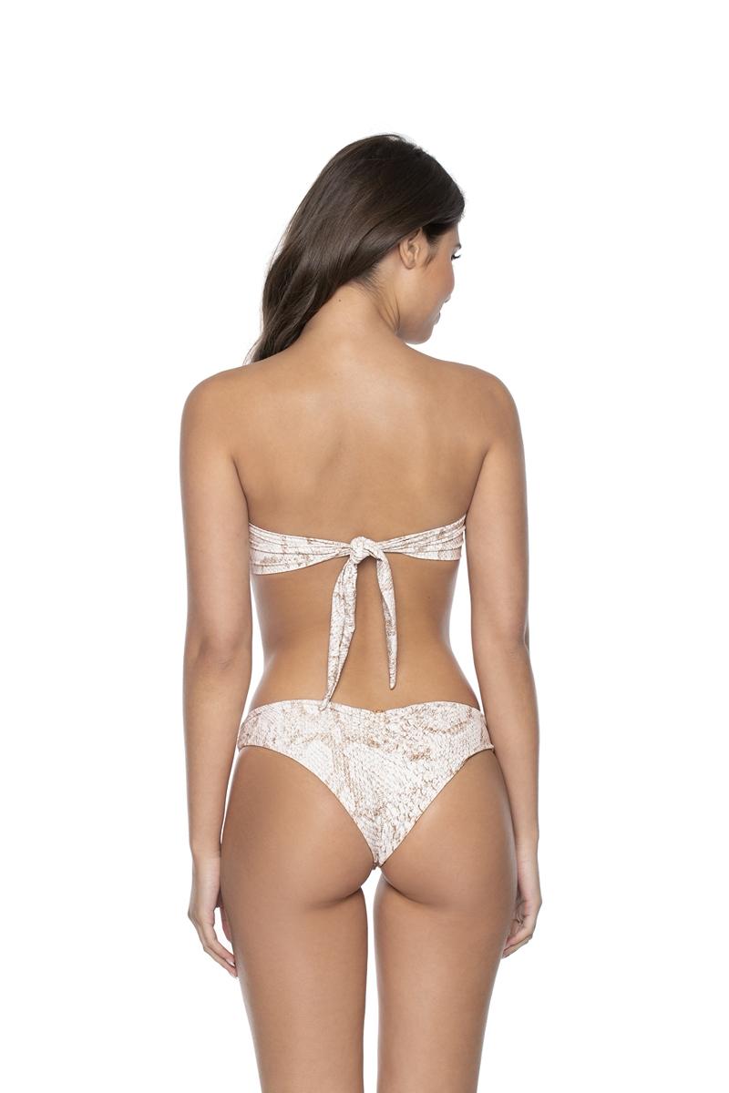 PilyQ Cobra Basic Ruched Bikini Bottom