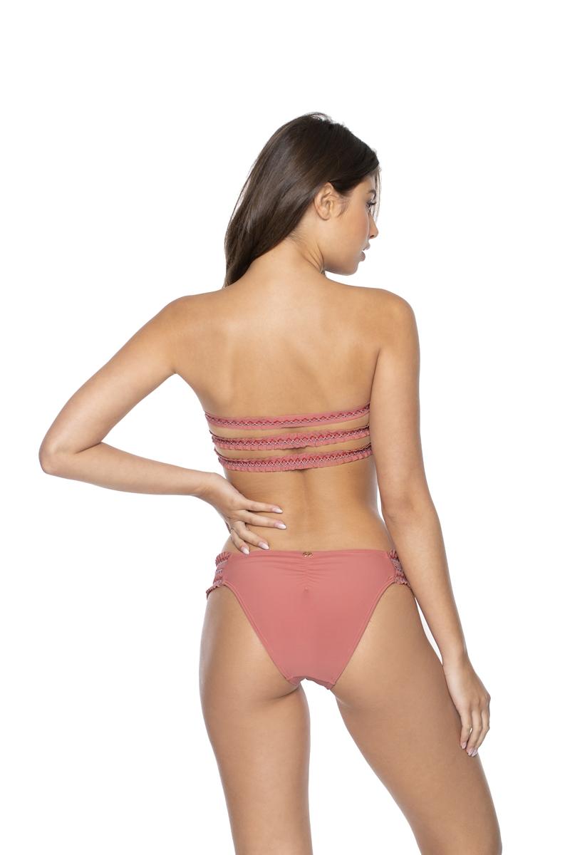 PilyQ Lotus Smocked Tab Bikini Bottom