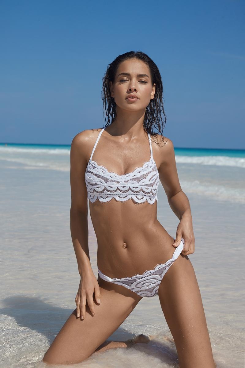 PQ Swim Water Lily Lace Bralette Bikini Top