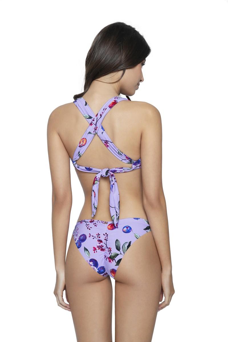 PQ Swim Passionfruit Basic Ruched Bikini Bottom