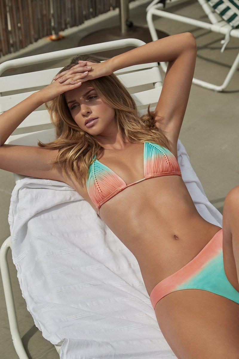 PQ Swim Sunset Isla Tri Bikini Top