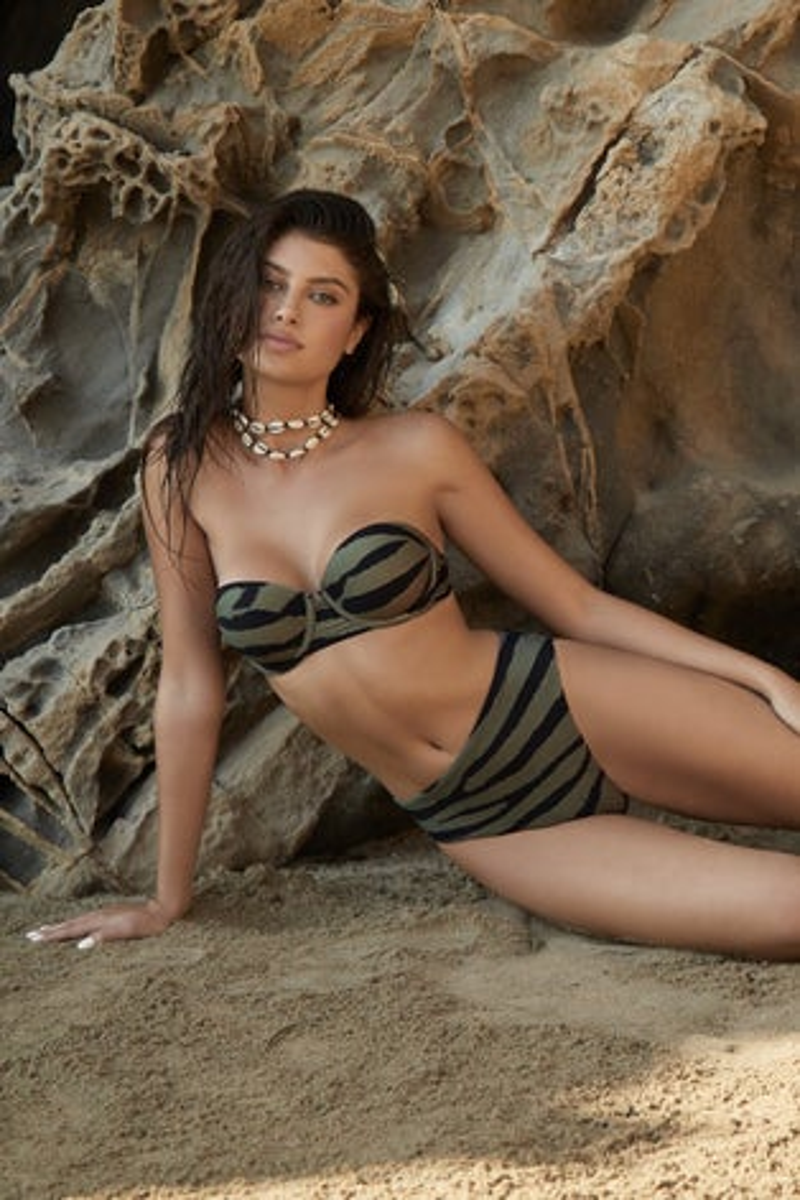 PQ Swim Tigerlily Nova Bandeau Bikini Top