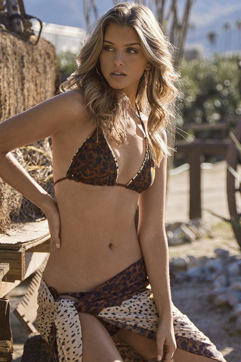 PQ Swim Wild Heart Reversible Tri Bikini Top