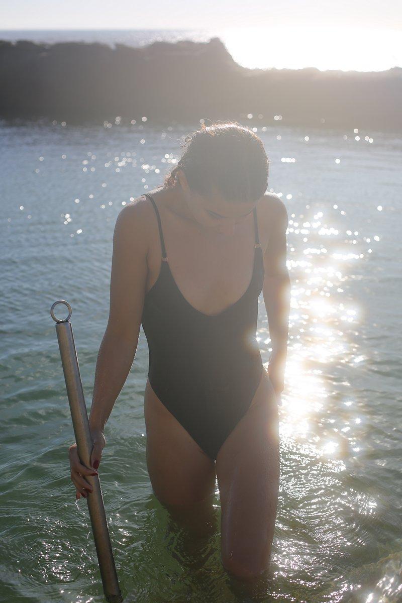 Slate Swim Black Florence One Piece Swimsuit