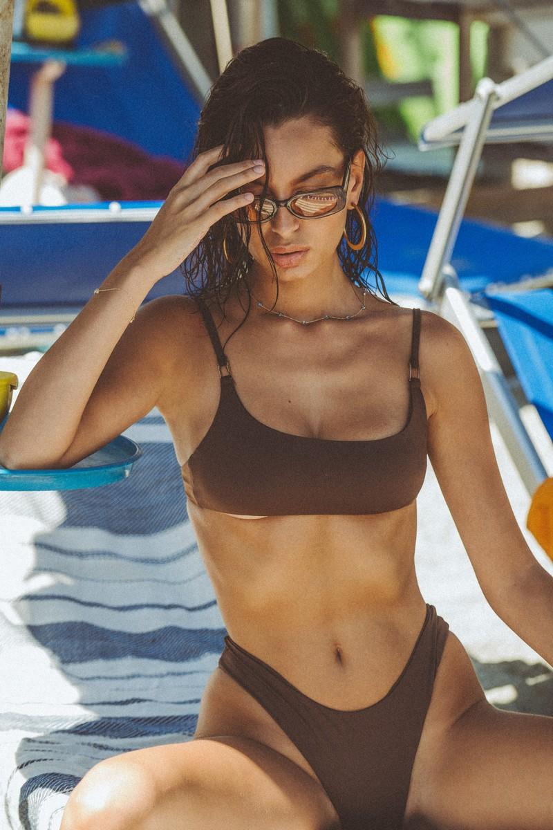 Slate Swim Espresso Jade Bikini Bottom