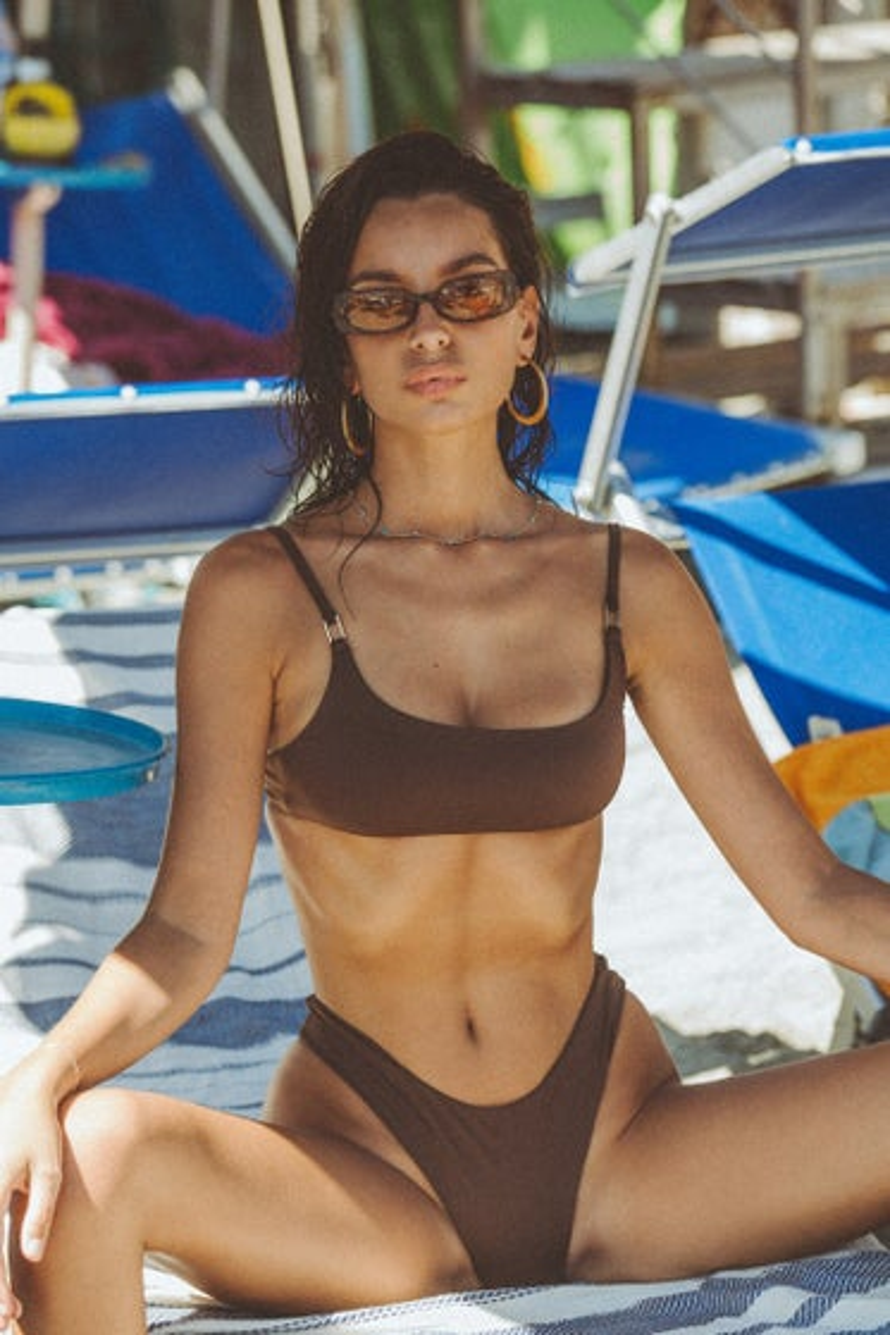 Slate Swim Espresso Jade Bikini Top