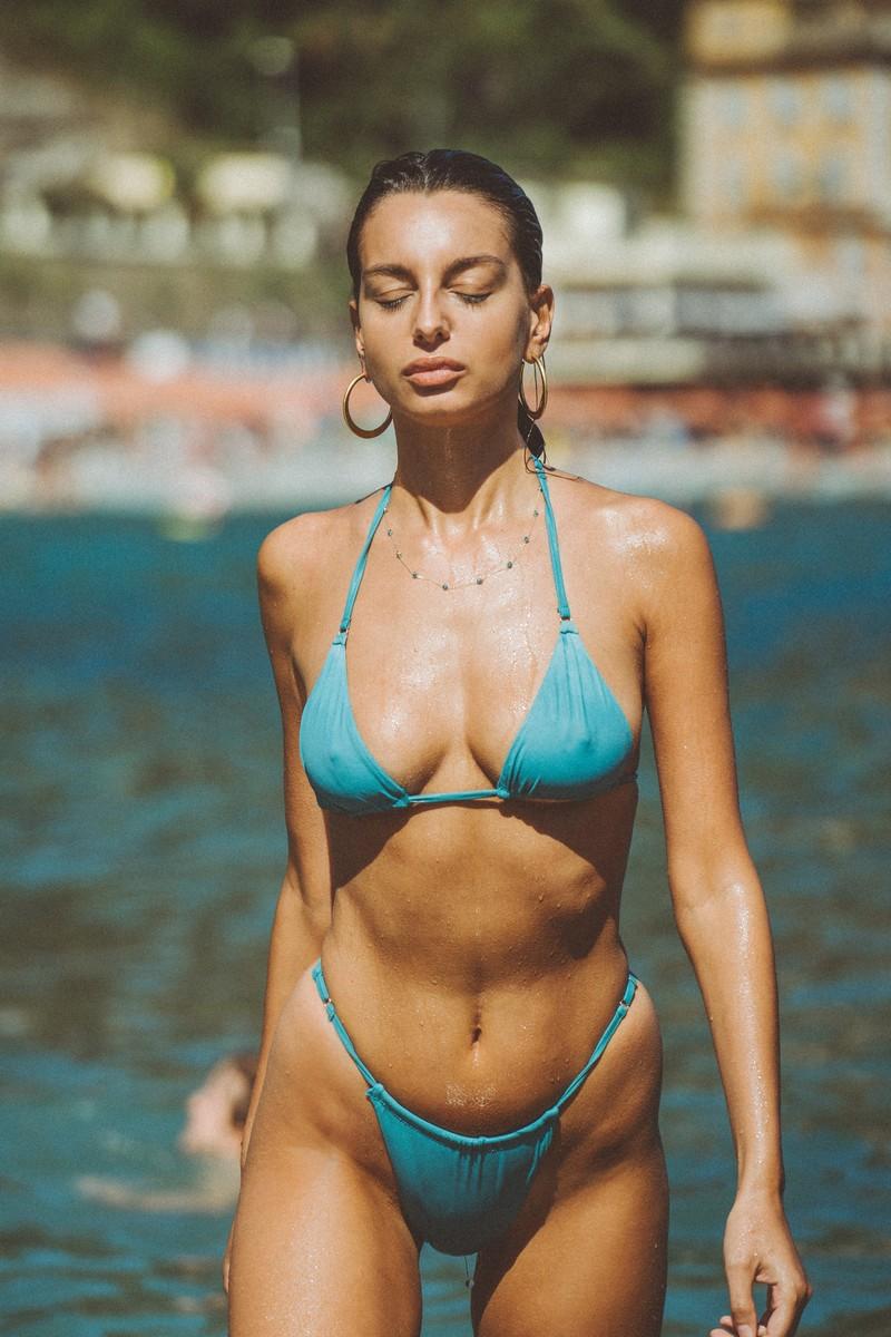 Slate Swim Lake Rain Bikini Bottom