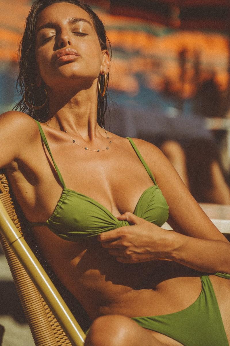 Slate Swim Leo Top in Jade