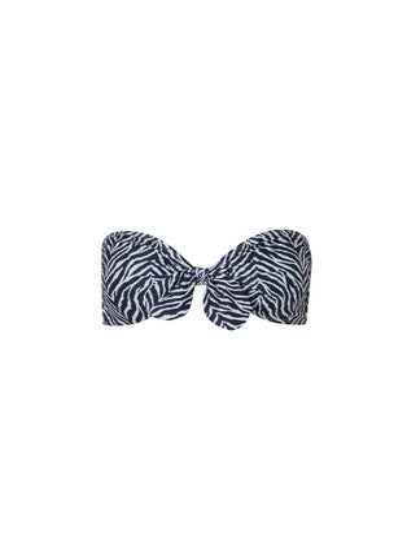 Verdelimon Zebra Malibu Bandeau Bikini Top