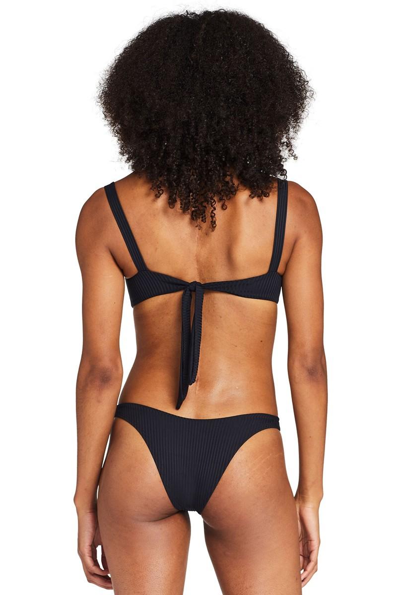 Vitamin A Black EcoRib California High Leg Bikini Bottom