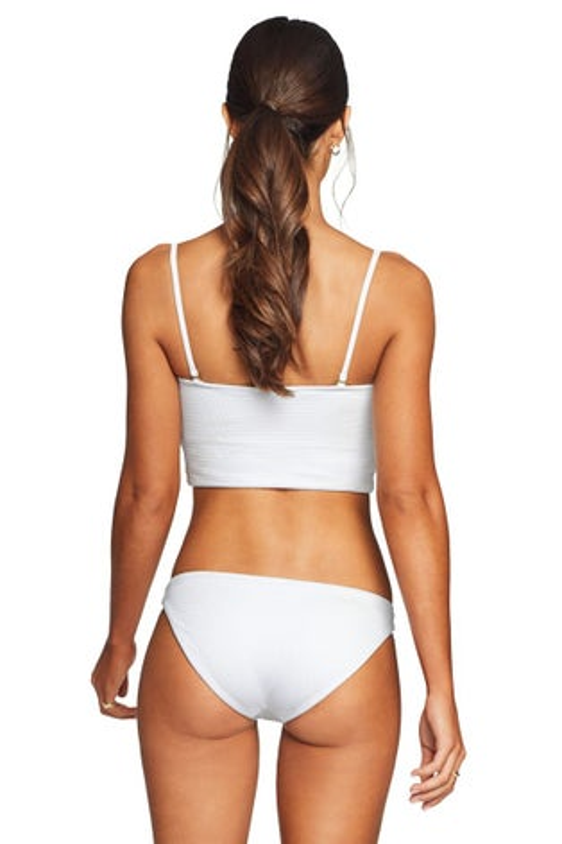 Vitamin A EcoTex White Luciana Bikini Bottom