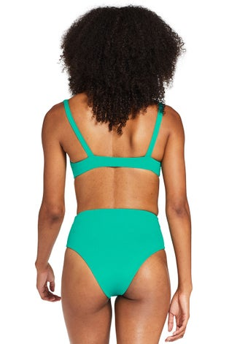 Vitamin A Emerald EcoLux Lou Bikini Top