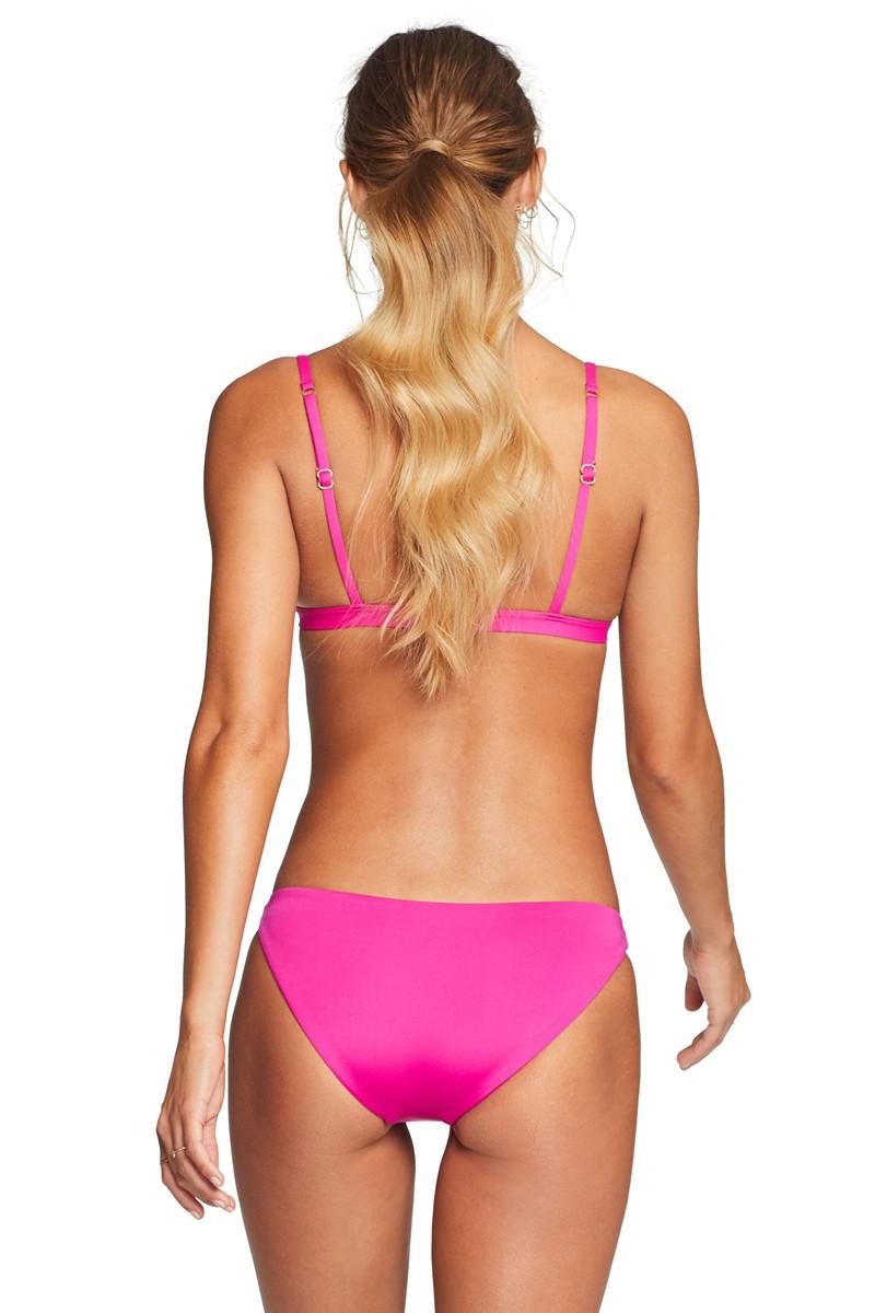 Vitamin A Moss Bikini Top in Magenta