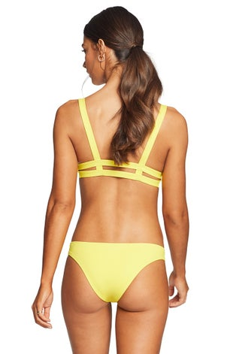 Vitamin A Neutra Bralette Bikini Top in Yellow