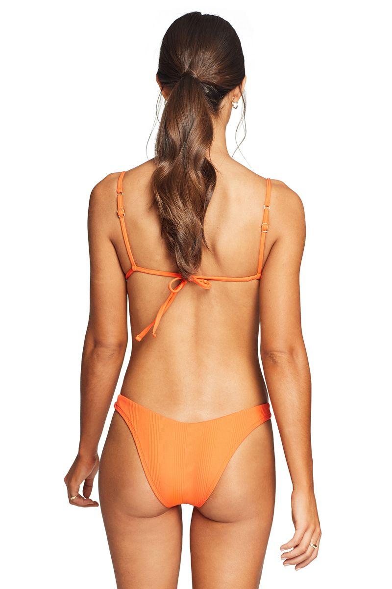 Vitamin A Variegated Orange Crush California High Leg Bottom