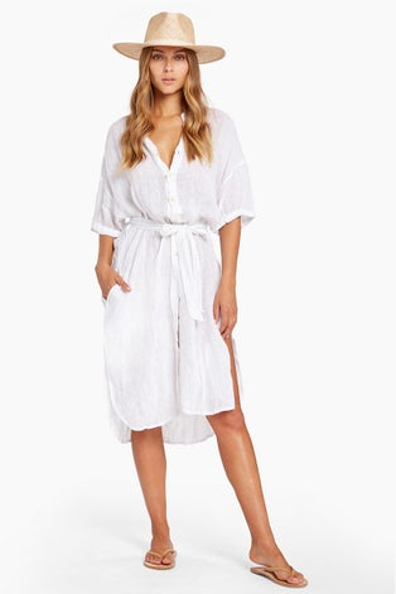 Vitamin A White EcoLinien Playa Dress
