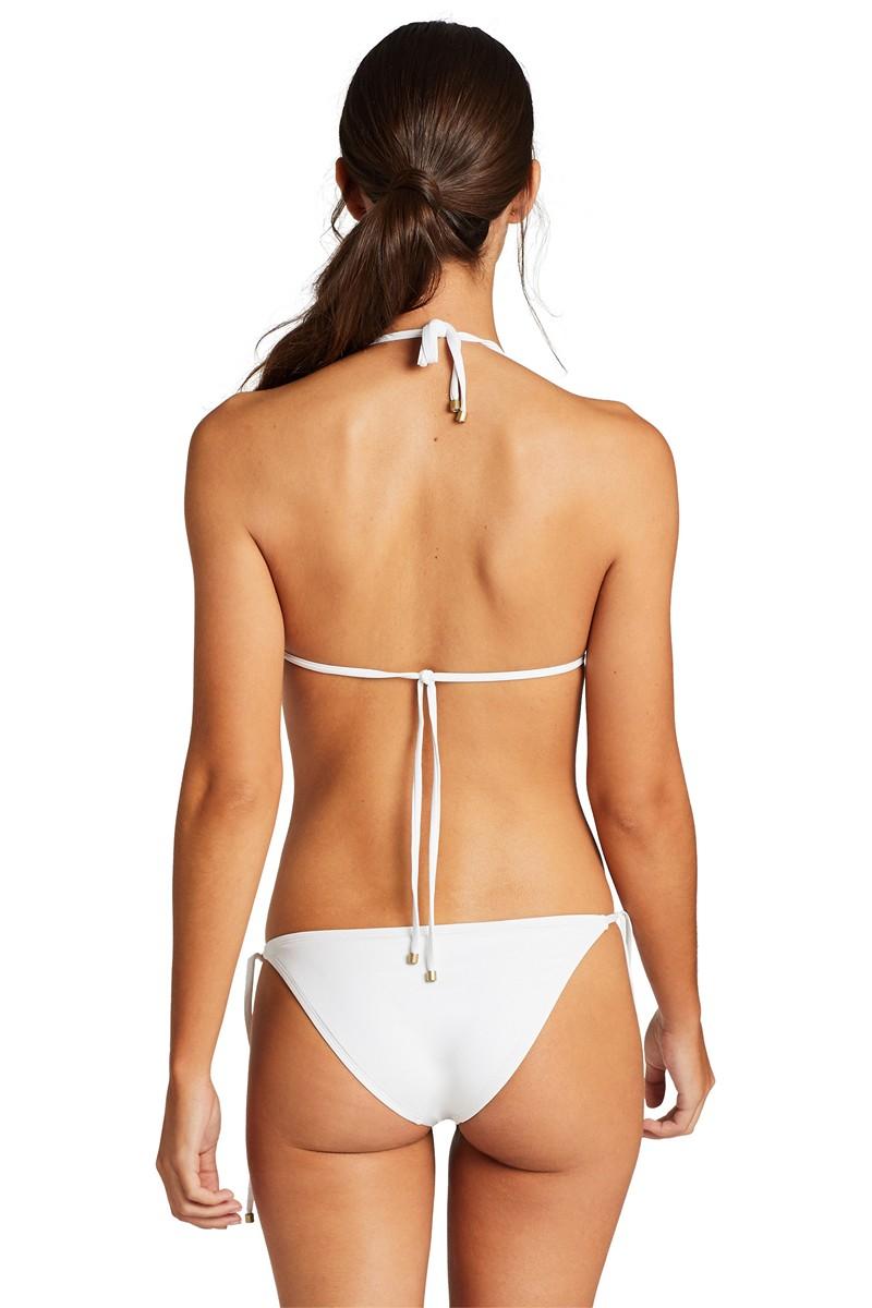 Vitamin A White EcoLux Elle Tie Side Bikini Bottom